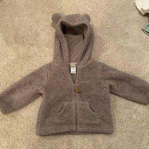 Fuzzy bear Sherpa hoodie